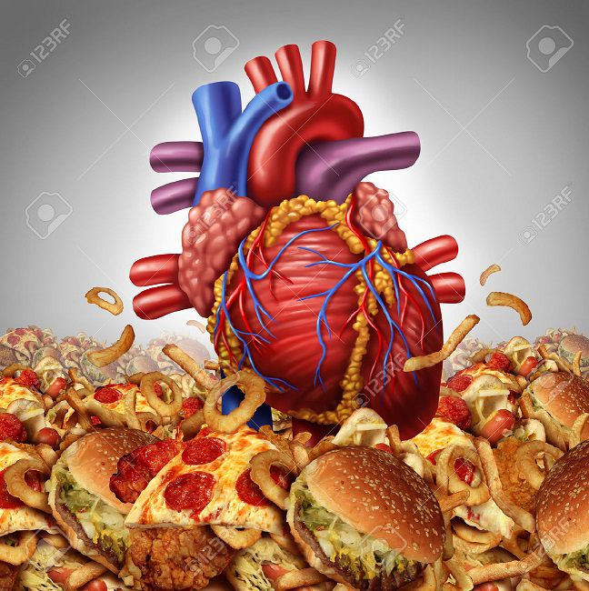 فست فود تغذیه در بیماران قلبی