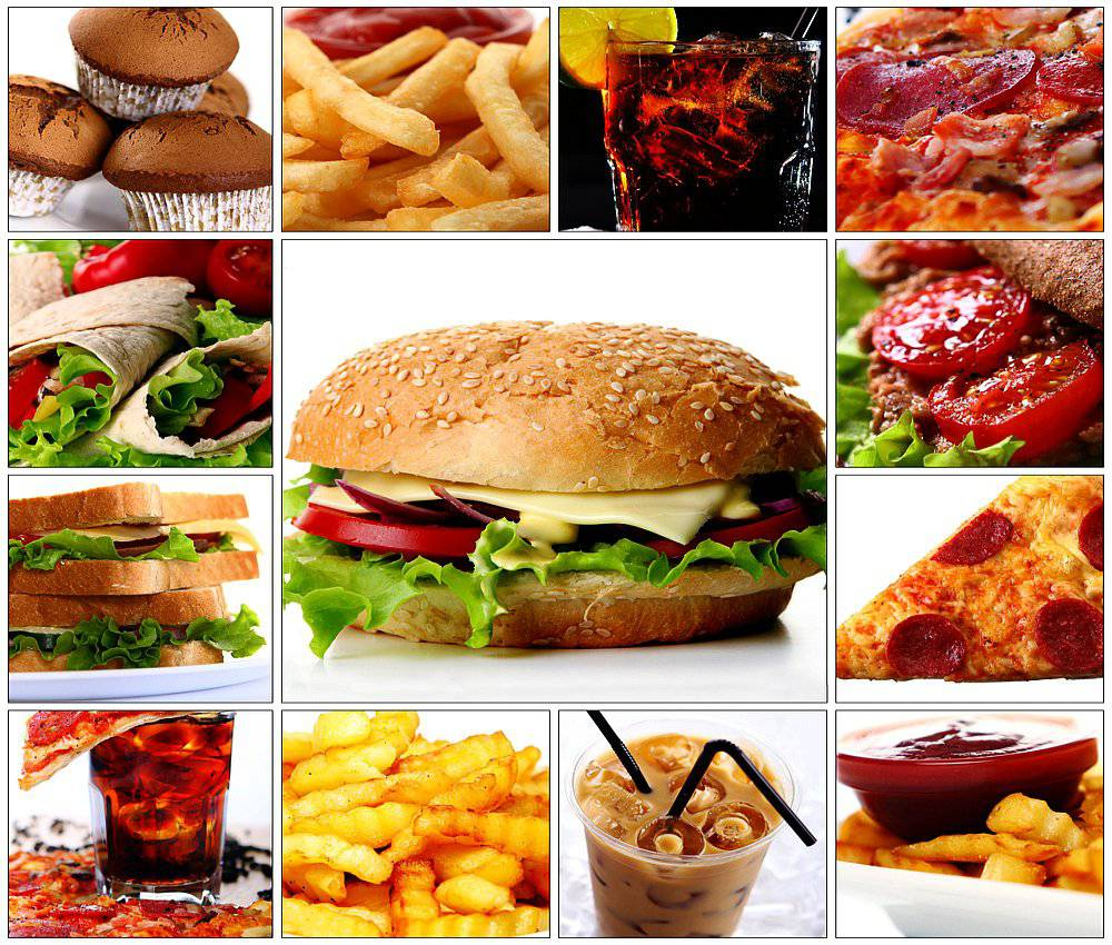 fast-food-collage