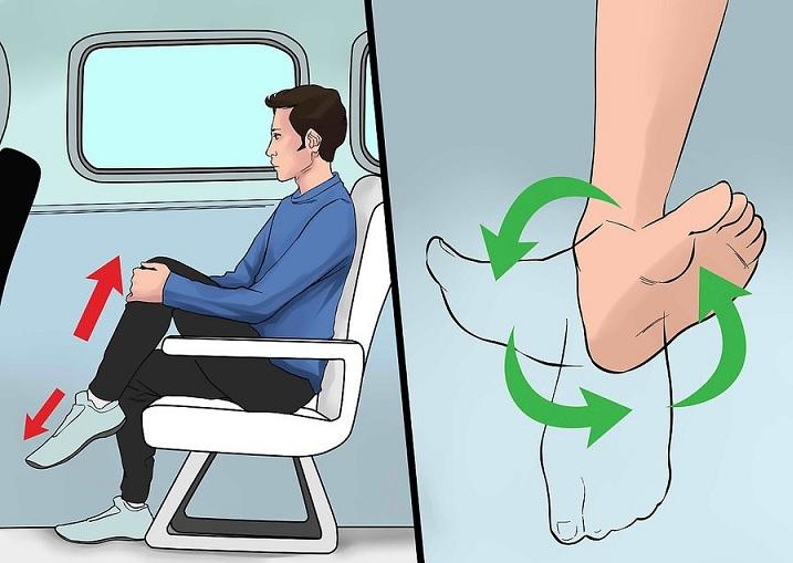 جلوگیری از ورم پا در هواپیما